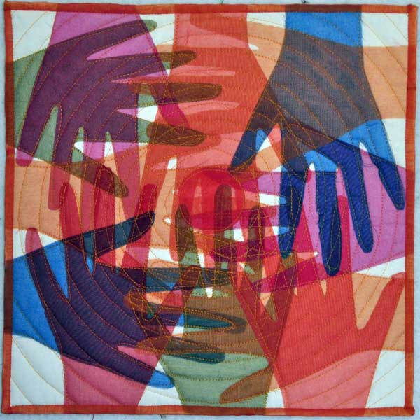 You cannot shake hands with a clenched fist | Crazy for Fiber : quilting hands - Adamdwight.com